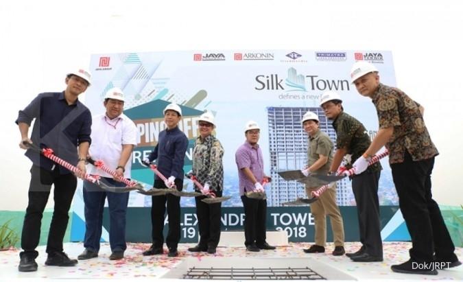 JRPT Jaya Real Property (JRPT) lakukan tutup atap apartemen tower pertama proyek Silk Town