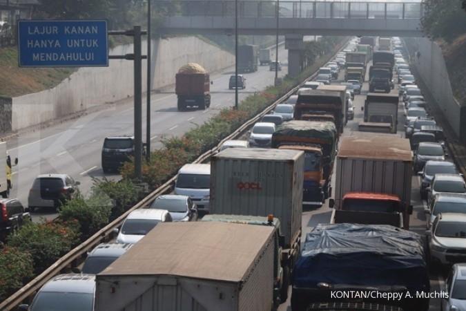 Macet 7 kilometer, kendaraan ke arah Bandara Soekarno-Hatta diminta putar balik