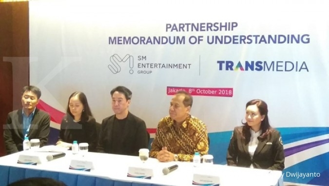 Kembangkan i-pop, Transmedia gandeng SM Entertainment