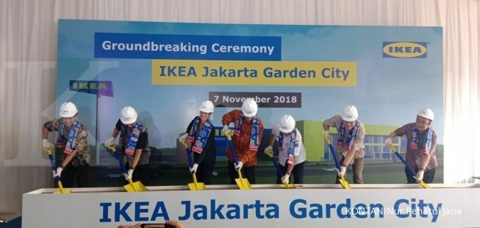 Hero Supermarket began the groundbreaking of the IKEA project in Jakarta Garden City