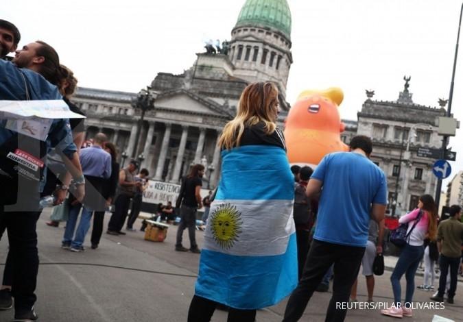 Unjukrasa warga Argentina jelang KTT G20 di Buenos Aires