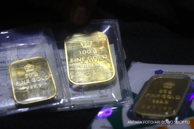 Harga Emas Antam Turun Rp 1000 Akhir Pekan Ini