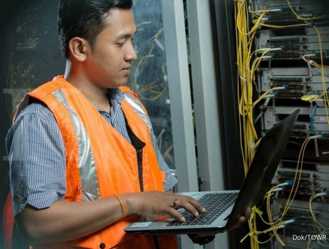 TOWR Penambahan fiber optik Sarana Menara Nusantara (TOWR) akan terealisasi di kuartal III