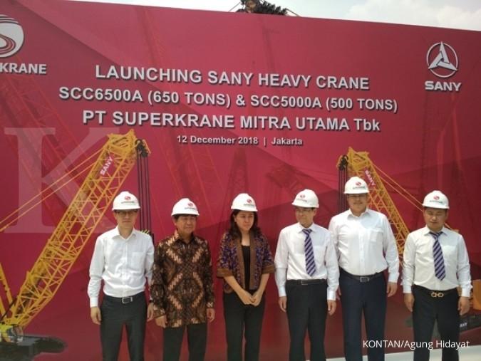 SKRN Superkrane Mitra Utama (SKRN) optimis kinerja bisnis tumbuh hingga 15% tahun depan