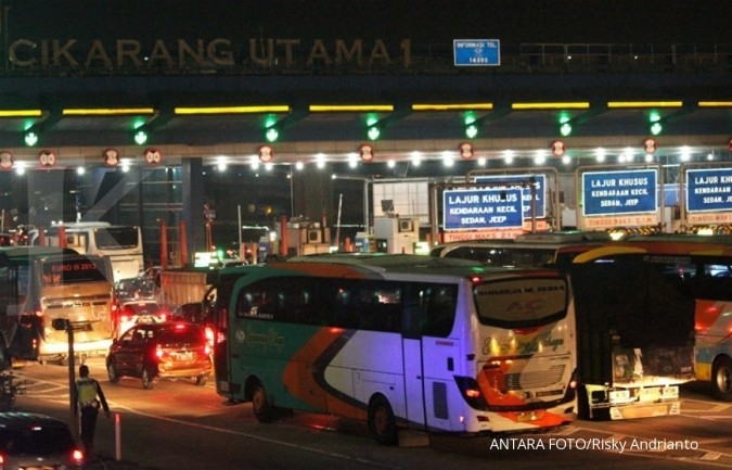 Jasa Marga mencatat lalu lintas tertinggi yang melintasi GT Cikampek Utama kemarin