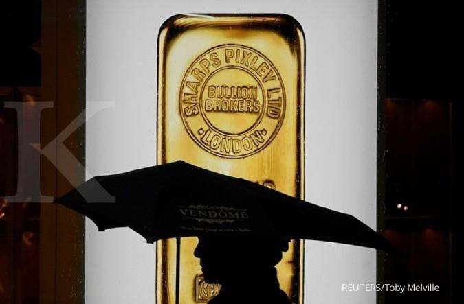 Harga emas makin kinclong didorong sentimen perang dagang