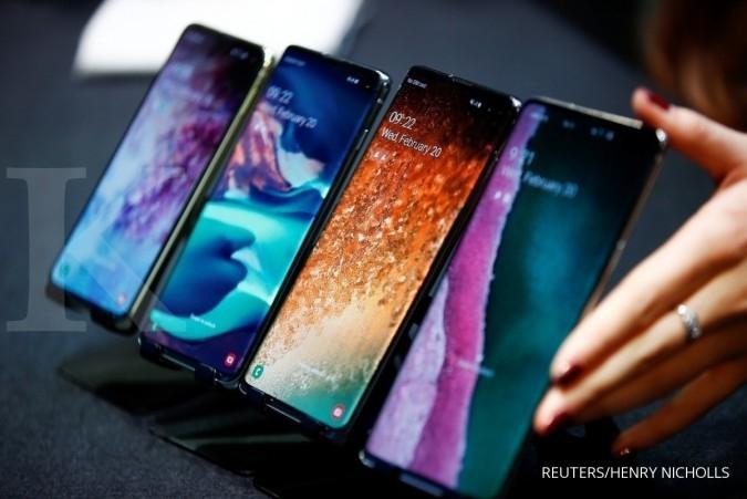 ILUSTRASI: Deretan ponsel serial Samsung Galaxy S10