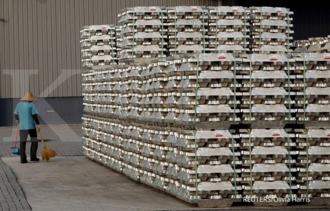 Harga aluminium mentereng karena penurunan stok dan kenaikan harga minyak