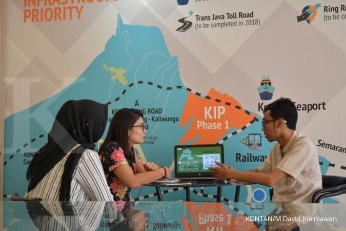 Wawancara dengan pengelola Kawasan Industri Kendal saat liputan Jelajah Ekonomi KONTAN Tol Trans Jawa