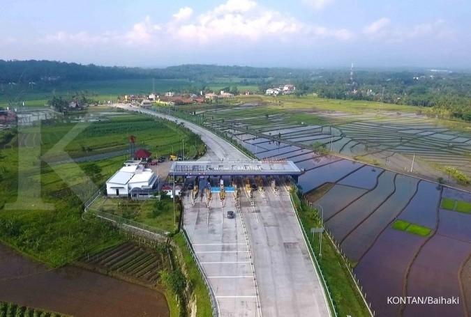 Gerbang tol Salatiga. Jelajah Ekonomi Kontan Tol Trans-Jawa