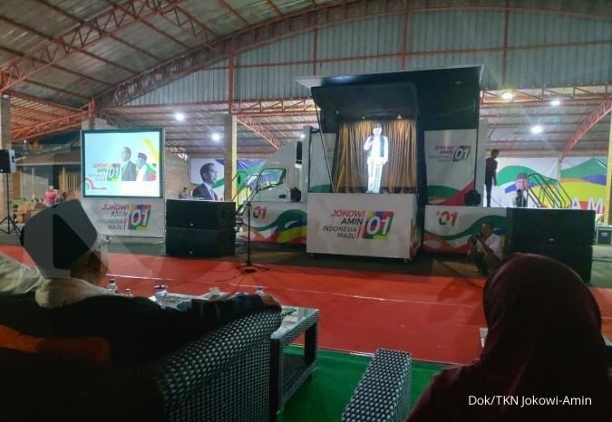Jokowi juga pakai hologram untuk paparkan kinerja ke warga