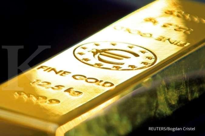Harga emas spot bertahan di US$ 1.793,56 per ons troi, dekati level tertinggi 9 tahun