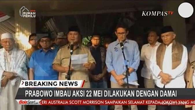 Prabowo-Sandiaga menyatakan siap hadir di sidang MK bila diperlukan