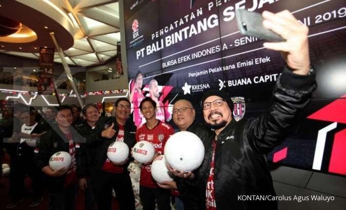 Debut Perdana, Saham Klub Sepakbola Bali United Melonjak 69%