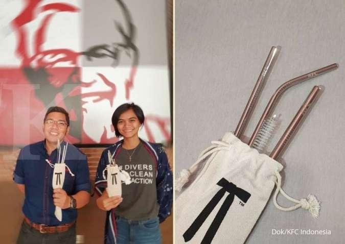 FAST Kurangi plastik, Fast Food Indonesia (FAST) bundling paket sedotan stainless