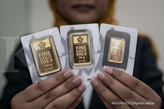 Harga Emas Antam Turun Lagi Laba Sekecil Ini Jika Beli 1 Tahun Lalu