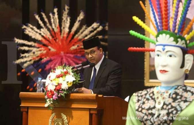 Hasil gambar untuk Pertumbuhan ekonomi DKI Jakarta turun di 2018, Anies sebut gara-gara