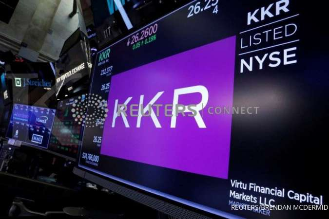 Trading information for KKR & Co is displayed on a screen on the floor of the New York Stock Exchange (NYSE) in New York, U.S., August 23, 2018. REUTERS/Brendan McDermid