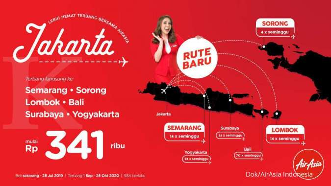 AirAsia Kembangkan Konektivitas Domestik dari Jakarta