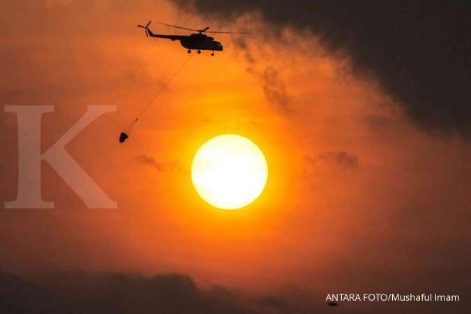 Enam heli tidak cukup untuk pemadaman kebakaran lahan di Sumsel yang meluas