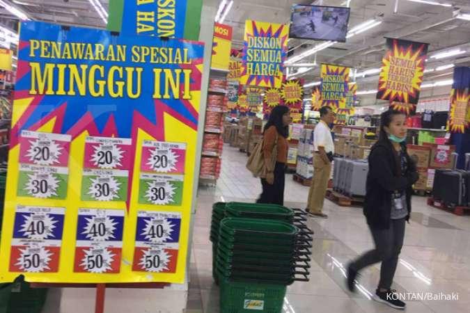 Promo Giant weekday periode 25 Januari 2021 menawarkan diskon produk-produk harian mulai dari 10% - 50%. KONTAN/Baihaki/23/8/2019