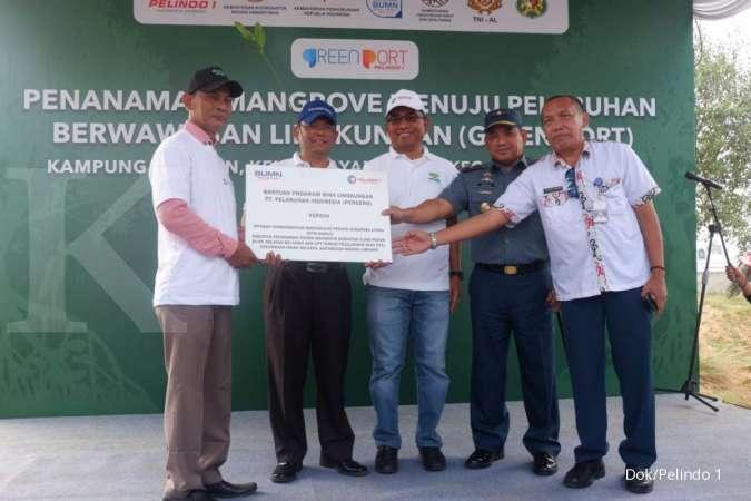 Pelindo 1 dan Kemenko Maritim Tanam Mangrove di Kampung Nelayan Indah Medan
