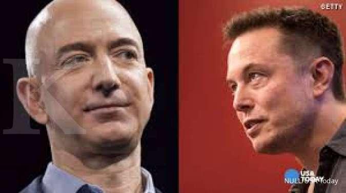 Posisi Jeff Bezos sebagai orang terkaya dunia mulai digoyang Elon Musk