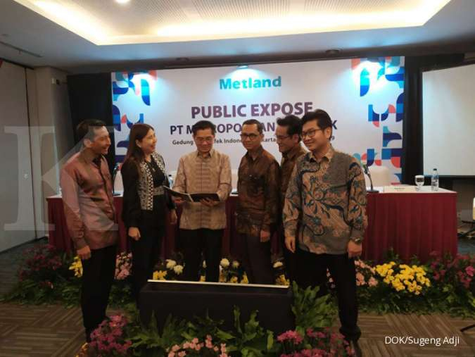 Per September, PT Metropolitan Land Tbk (MTLA) kantongi marketing sales 1,38 triliun