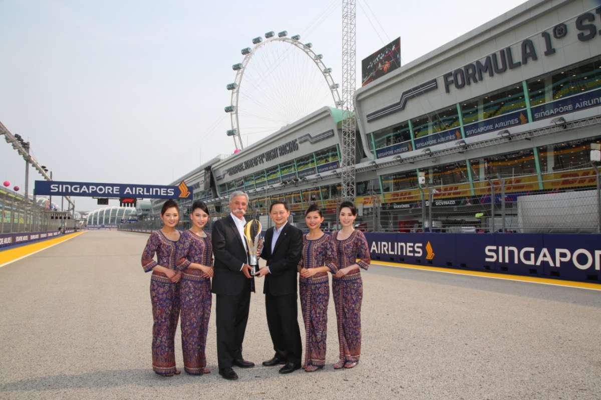 Singapore Airlines Tetap Menjadi Sponsor Utama Formula 1® Singapore Grand Prix