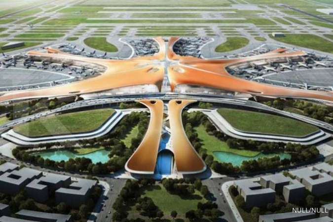Beijing's new $63 billion mega-airport begins international flights