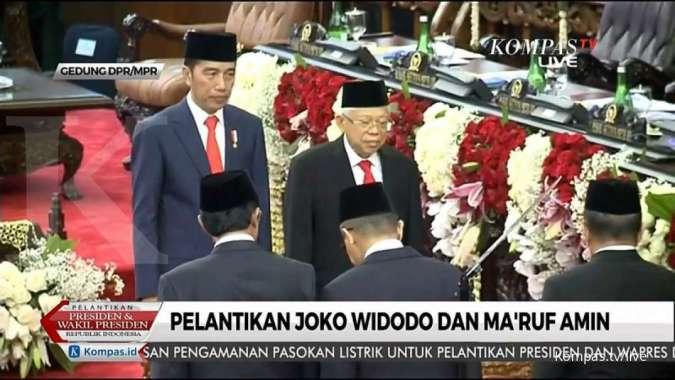Sah, Jokowi-Ma'ruf resmi dilantik jadi presiden dan wapres periode 2019-2024