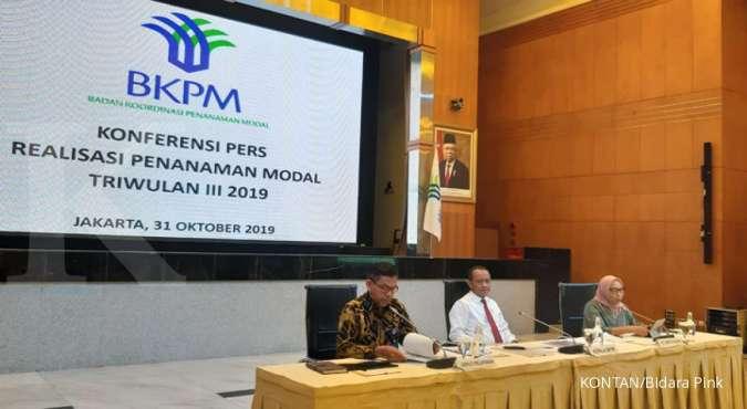 ILUSTRASI. Jajaran Badan Koordinasi Penanaman Modal (BKPM) memberikan paparan tentang realisasi investasi.