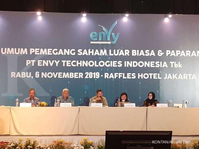 Envy Technologies Indonesia (ENVY) sudah menyerap dana IPO sebesar Rp 196 miliar