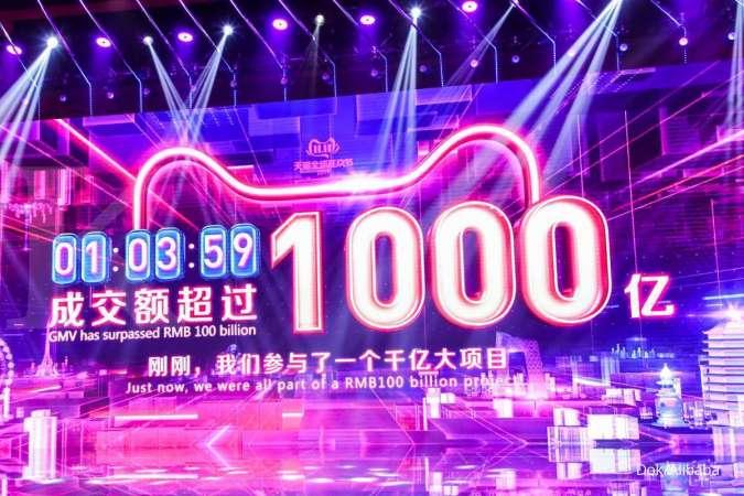 Alibaba Capai GMV USD 12 Miliar dalam Satu Jam Pertama 11.11
