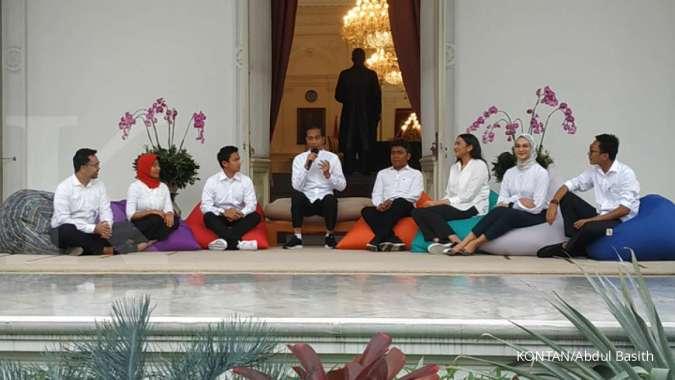 Ketujuh anak muda yang menjadi staf khusus Presiden Jokowi
