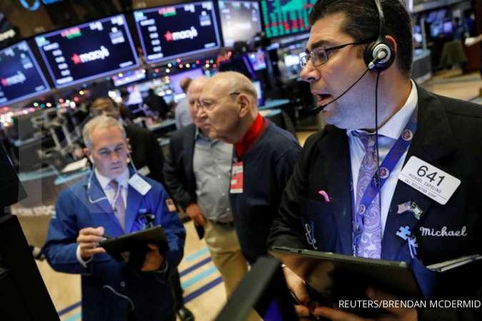Tiga indeks Wall Street akhir pekan sumringah, ini sentimen pendorongnya