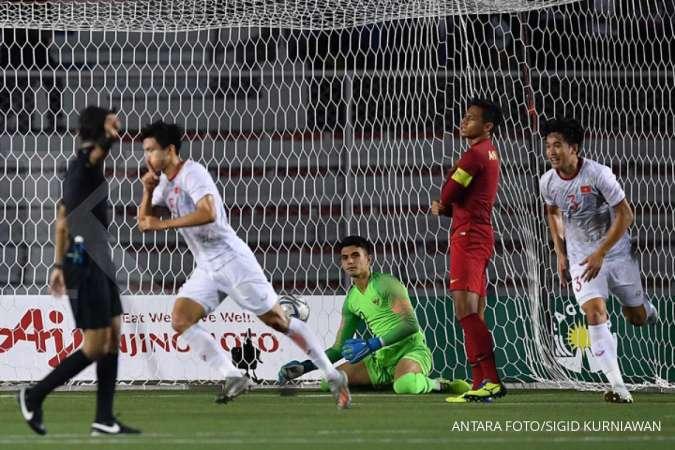 Gagal mengulang sukses di Filipina, timnas U-23 Indonesia kalah dari Vietnam 0-3