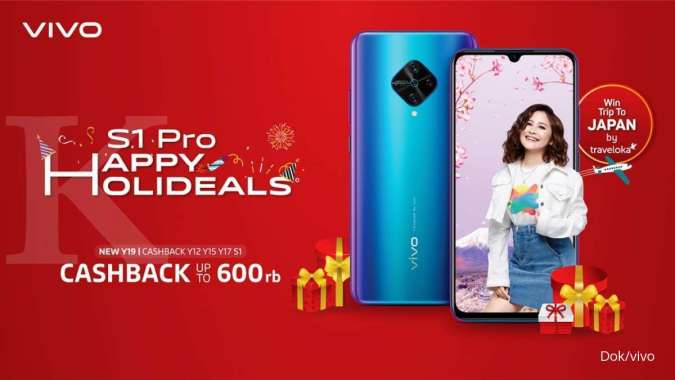 Harbolnas 12.12,Vivo Gelar S1 Pro Happy Holideals