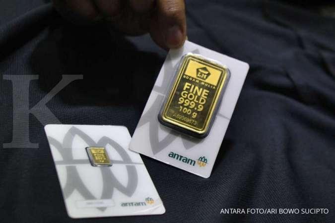 Harga emas Antam hari ini naik Rp 2.000 menjadi Rp 770.000 per gram