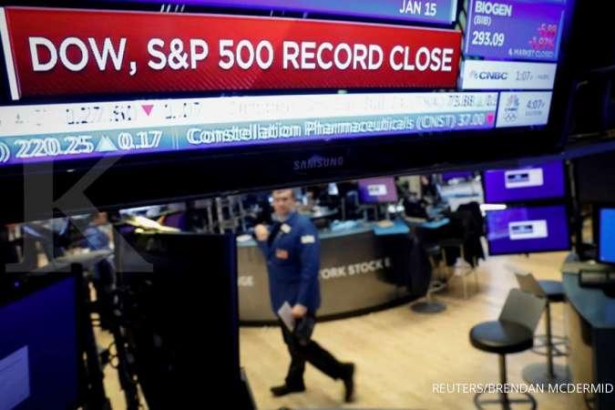 Wall Street cetak rekor mingguan tertinggi sejak Agustus karena data ekonomi positif