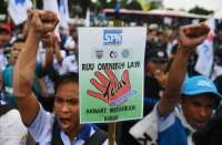 Indonesia unions hold protests over planned labour reform