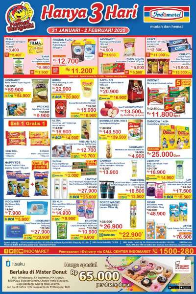 Promo Indomaret Hanya 3 Hari Teranyar 31 Jan 2 Feb 2020