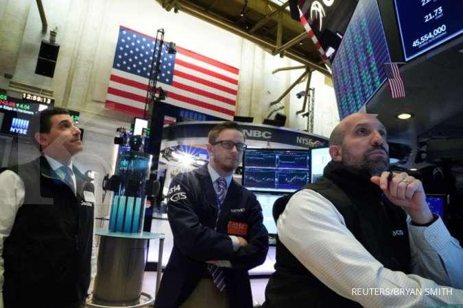 Wall Street melorot, terseret memburuknya data bisnis dan kekhawatiran virus corona