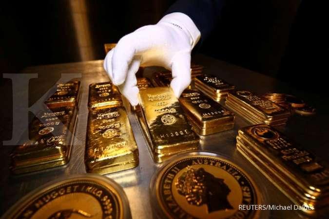 Harga emas turun di bawah US$ 1.800, terbebani dolar AS dan kebijakan ECB
