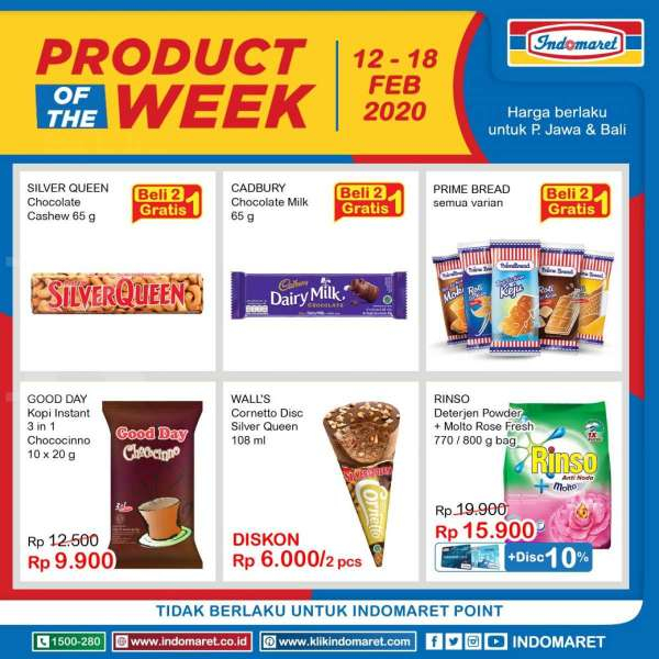 Promo Indomaret Product of The Week, teranyar! (12-18 Feb 2020)