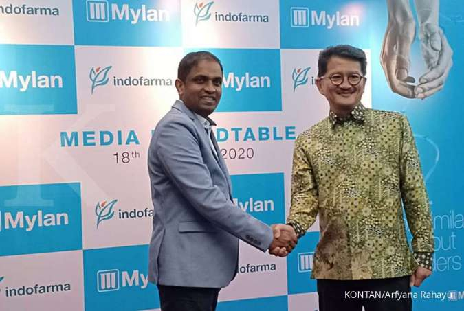 Presiden Direktur PT Indofarma Tbk (INAF) Arief Pramuhanto bersama Dr Harish TVN, Associate Vice President-Mylan, South-East Asia & Head of Commercial Operation in Indonesia di Jakarta (18/2/2020).
