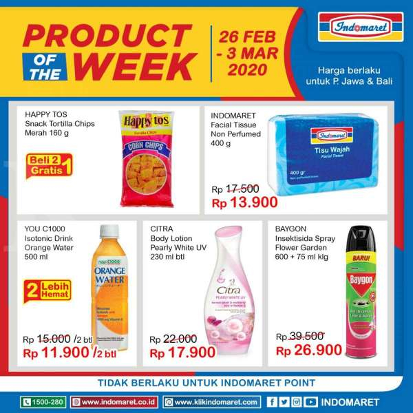 Promo Indomaret Product of The Week, teranyar! (26 Feb-3 Mar 2020)