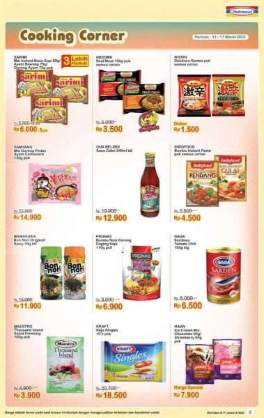 Promo Cooking Corner di Indomaret priode 11-24 Maret 2020