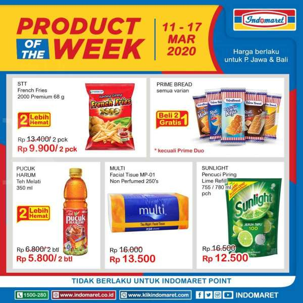 Promo Indomaret Product of The Week, terbaru (11-17 Maret 2020)
