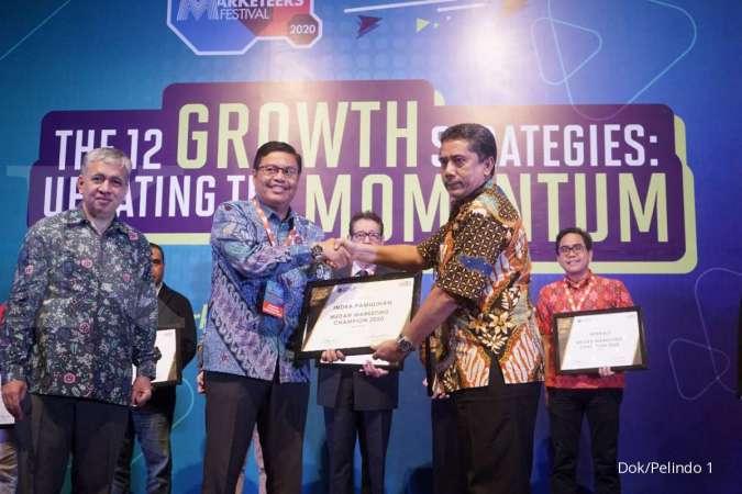 GM Pelindo 1 TPK Belawan Terima Penghargaan Industry Marketing Champion 2020 Kota Medan